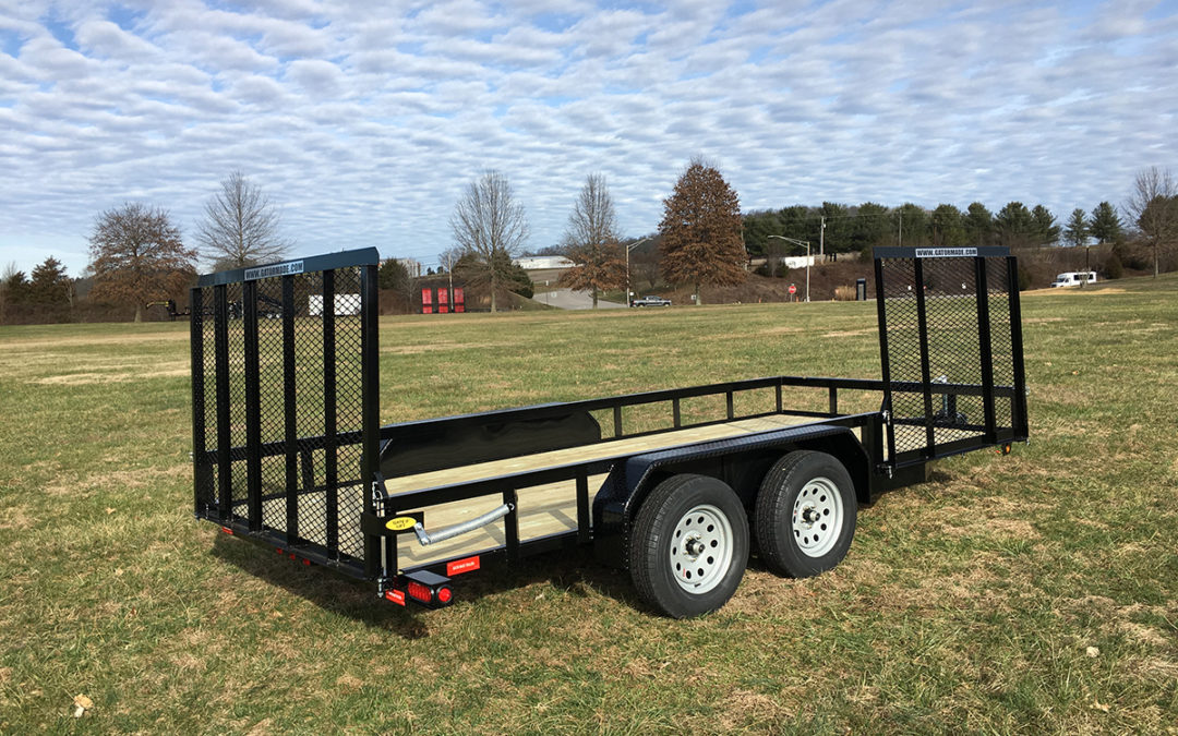 Utility Trailer 6 ft 10 inch x 16 ft (Side and Rear Gate)